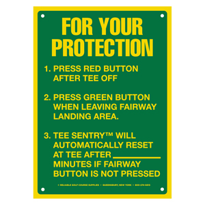 40991-For Your Protection Tee Sign