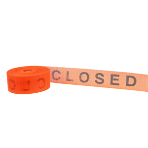 """41844-4"""" x 300' """"Closed"""" Barrier Tape - Blemished"""