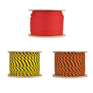 41883-3-Strand Twisted Polypropylene Rope - 3/8""