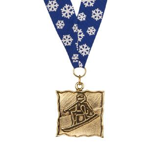 42676-Snowboard Medal/Ribbon