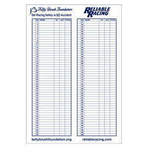 50703-Kelly Brush/RRS Giant Scoresheet - New!