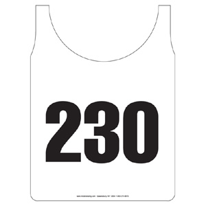 50739-Stock Numbered 2 Panel Souvenir Bibs