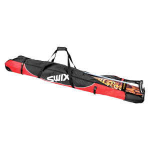 B2698-Swix Padded Rolling Double Ski Bag