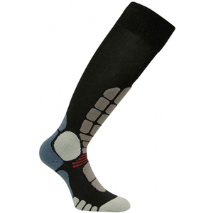 B4095-EUROSOCKS DIGITS SILVER SKI SOCKS