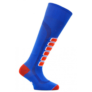 B4529blu-EUROSOCKS SILVER SKI LIGHT JR RACE SOCKS