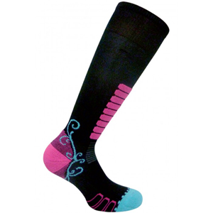 B4530-EUROSOCKS SWEET SILVER SKI SOCKS WOMEN'S