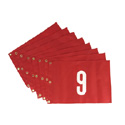 Standard Stock Numbered Grommeted Pin Flags